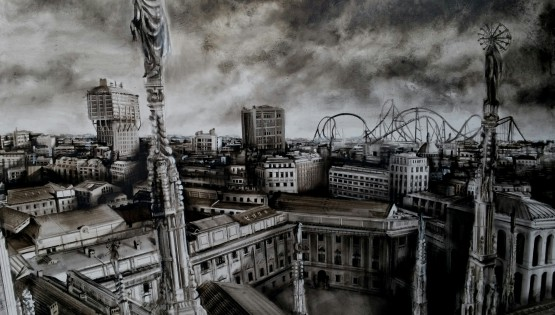 03 GIAMPIETRO Guglie Milano 2015 cm. 120×170 olio su tela