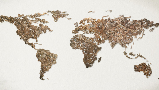 GOLDANIGA World Map 2016 cm. 100×220 bronzo