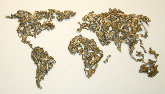 GOLDANIGA World Map 2016 cm. 70×110 bronzo