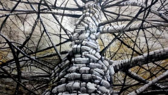 08 GIAMPIETRO Albero 2014  cm. 150×170 olio su tela