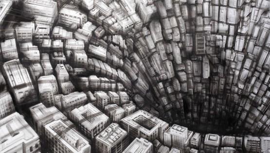 11 GIAMPIETRO Metromorfosi 2013 cm. 170×120 olio su tela