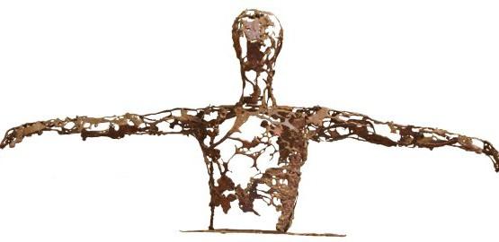 11 GOLDANIGA 2010 bronzo cm. 180x80x25
