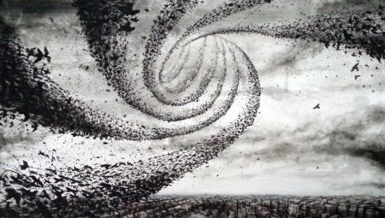 12 GIAMPIETRO Vortice 2013  cm. 170×120 olio su tela
