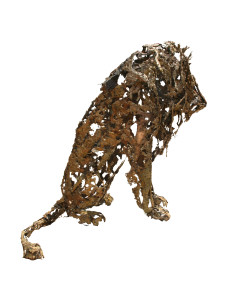 12 GOLDANIGA Leone bronzo cm. 135x135x135