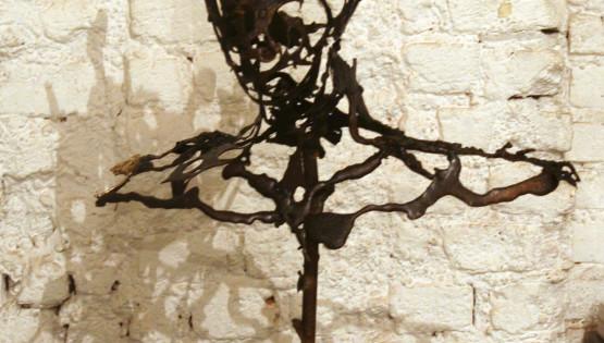 17 GOLDANIGA Busto bronzo cm. 80x60x30