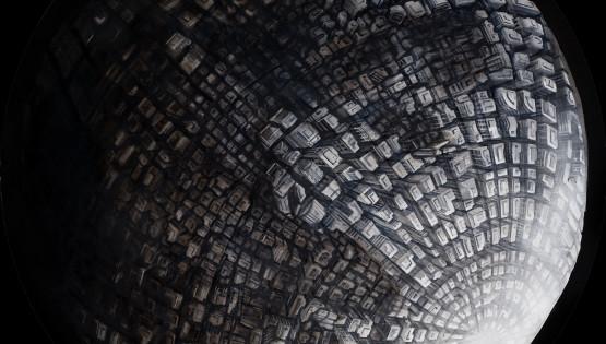 20 GIAMPIETRO Metromorfosi-Luna 2010 diam. cm. 150. olio su tela (2)