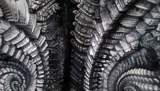23 GIAMPIETRO Metromorfosi 2010 cm. 150×100 olio su tela