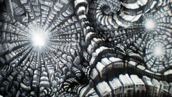 24 GIAMPIETRO Metromorfosi 2010 cm. 150×150 olio su tela