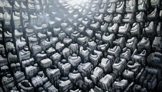 25 GIAMPIETRO Onda 2009 cm. 100×150 olio su tela