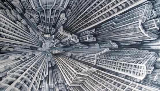 26 GIAMPIETRO Vertigo 2009 cm. 160×250 olio su tela