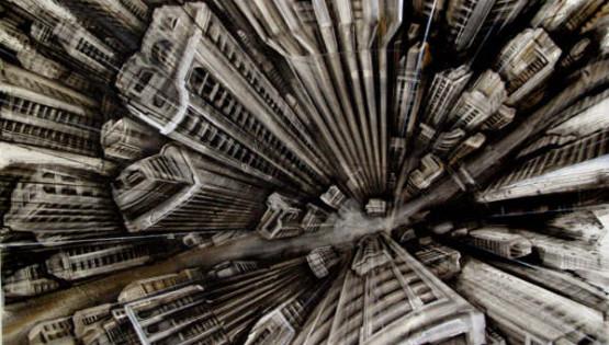 28 GIAMPIETRO  Vertigo 2009 cm. 100×150 olio su tela