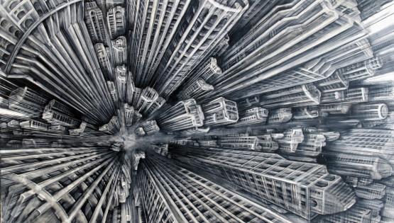 30 GIAMPIETRO Vertigo 2008 cm. 200×300 olio su tela