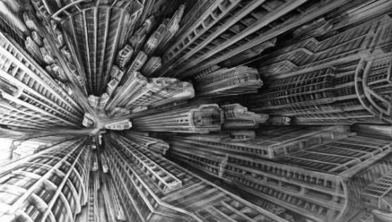 31 GIAMPIETRO Vertigo 2008 cm. 200×300 olio su tela