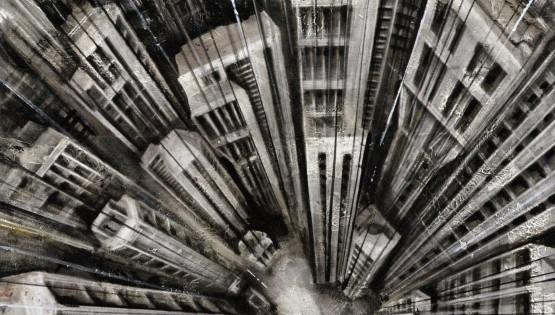 33 GIAMPIETRO Vertigo 2008 cm. 100×70 olio su tela