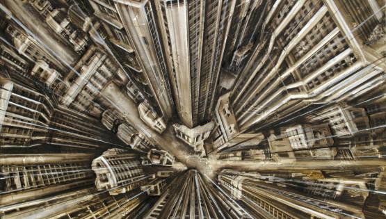 34 GIAMPIETRO Vertigo 2007 cm. 100×130 olio su tela
