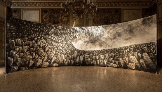 GIAMPIETRO Hyperplanes of Simultaneity. cm. 1000×300 Palazzo Reale Milano 2016