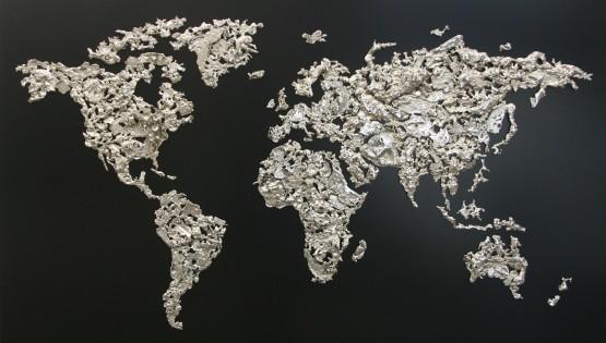 GOLDANIGA World Map 2016  cm. 100×150 cromato