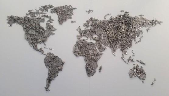 GOLDANIGA World Map 2017 cm. 170×310 cromato