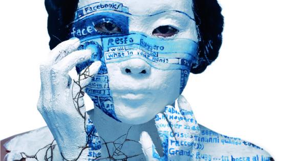01 ROSFER & SHAOKUN Face-off 2010 stampa da fotocolor inciso e dipinto