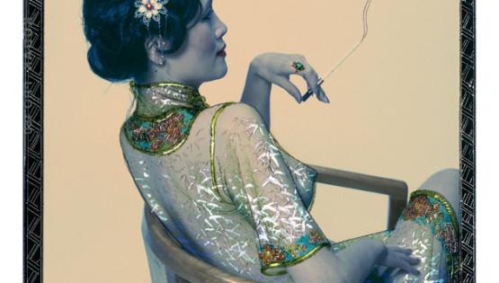 14 ROSFER & SHAOKUN Smoking Lady 2008 stampa da fotocolor inciso e dipinto