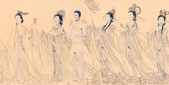 21 ROSFER & SHAOKUN New 87 angels I 2008 stampa da fotocolor inciso e dipinto