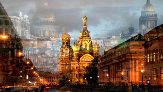 BRAMANTE San Pietroburgo (Chiesa del sangue versato + 2 cupole) cm. 150 x 225
