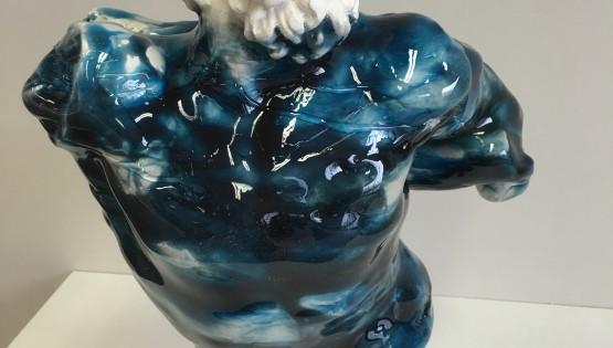 QUARONE Busto Laocoonte gesso e resina h cm. 30