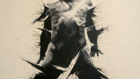 TROILO 2014 acrilico su tela steso con le dita cm. 180×160