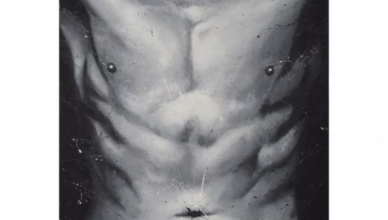TROILO acrilico su tela steso con le dita cm. 80×110 (2)