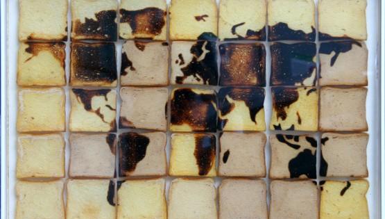DAVID REIMONDO World Bread fette di pane tostato inglobate nella resina cm. 60×90