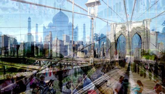 New Delhi-New York (Taj-Bridge)