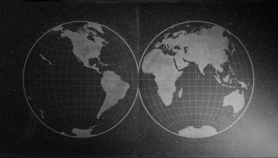 GOLDANIGA 2019 Planisfero cm. 120×240 incisioni su lavagna. Dittico