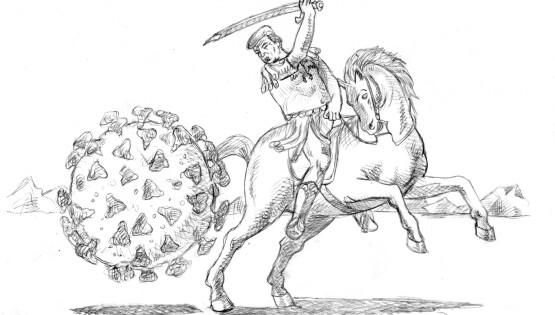 San Donald e il Virus 2020 a grafite su carta cm. 21×29,7