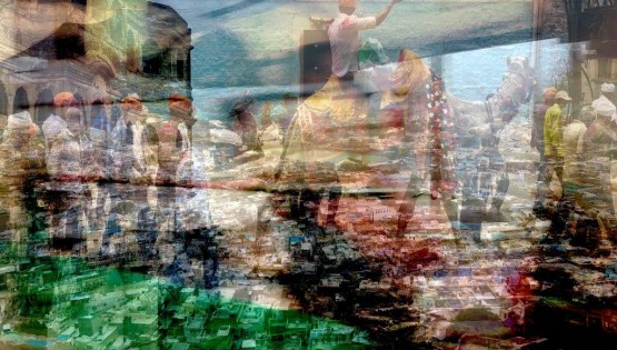 BRAMANTE India, (Blu city) 2019 Lightbox cm. 100×150