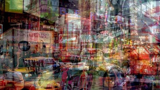 BRAMANTE New York (Mamma Rush) lightbox cm.100×150